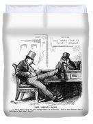 Black Friday Cartoon, 1873 Duvet Cover