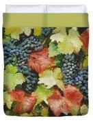Black Grapes Duvet Cover