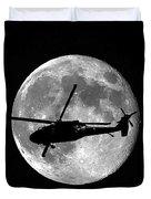Black Hawk Moon Vertical Duvet Cover