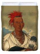 Black Hawk. Prominent Sauk Chief. Sauk And Fox Duvet Cover