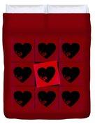 Black Hearts Duvet Cover