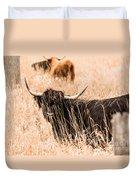 Black Highland Cow Duvet Cover