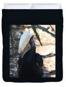 Black Hornbill Duvet Cover