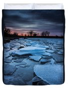 Black Ice Duvet Cover