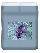 Black Iris Duvet Cover