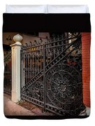 Black Iron And Red Brick Duvet Cover