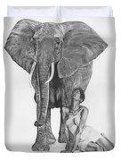 Black Ivory Duvet Cover