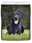 Black Labrador Dog Duvet Cover