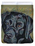 Black Labrador Duvet Cover