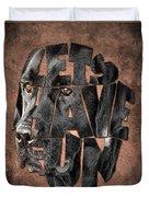 Black Labrador Typography Artwork Duvet Cover