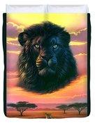 Black Lion Duvet Cover