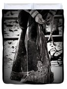 Black N White Chaps Duvet Cover