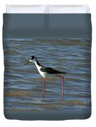 Black Necked Stilt Duvet Cover