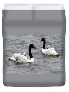 Black Necked Swans Patagonia 1 Duvet Cover