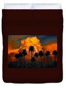 Black Palms At Dusk Duvet Cover