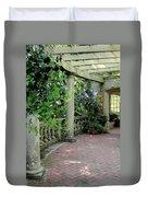 Black Petunias Duvet Cover