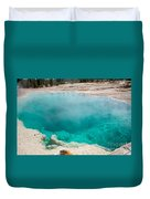 Black Pool In West Thumb Geyser Basin In Yellowstone National Park Duvet Cover