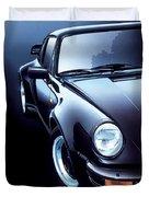 Black Porsche Turbo Duvet Cover