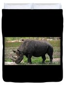 Black Rhino-19 Duvet Cover