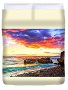 Black Sand Sunset Duvet Cover