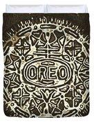 Black Sepia Oreo Duvet Cover
