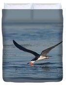 Black Skimmer Rynchops Niger Skimming Duvet Cover