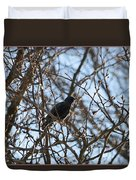 Black  Starling Duvet Cover