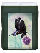 Black Swallowtail Butterfly By George Wood Duvet Cover
