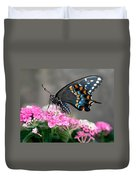 Black Swallowtail Butterfly Duvet Cover
