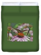 Black Swallowtail On Cone Flower Duvet Cover