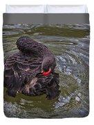 Black Swan Gladys Porter Zoo Texas Duvet Cover