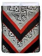 Black Thai Fabric 01 Duvet Cover