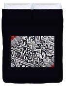 Black Thai Fabric 03 Duvet Cover