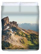 Black Tusk Mountain And Helm Lake Duvet Cover