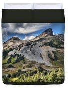 Black Tusk Over Alpine Meadows Duvet Cover