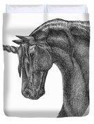 Black Unicorn Duvet Cover