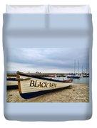 Black Ven Duvet Cover