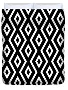 Black And White Pattern Duvet Cover by Christina Rollo