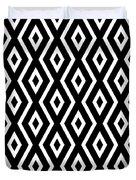 Black And White Pattern Duvet Cover