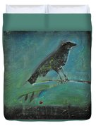 Blackbird Redberry Duvet Cover