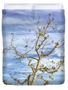 Blackbirds In A Tree Duvet Cover