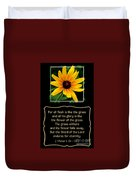Blackeyed Susan With Bible Quote From 1 Peter Duvet Cover