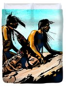 Blackfeet Scouts Duvet Cover