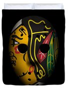 Blackhawks Goalie Mask Duvet Cover