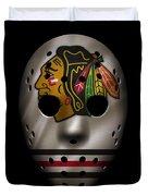 Blackhawks Jersey Mask Duvet Cover
