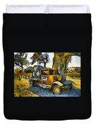 Blackjack Winery Truck Santa Ynez California Duvet Cover