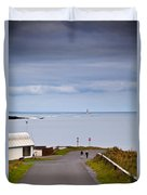 Blackrock Lighthouse, Off Rosses Point Duvet Cover