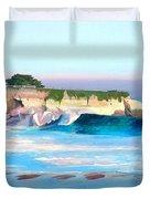 Blacks Beach - Santa Cruz Duvet Cover