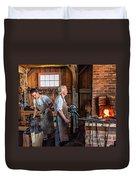 Blacksmith And Apprentice 2 Duvet Cover by Steve Harrington