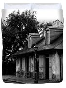 Blacksmith Shop On A Rainy Day Bw Duvet Cover